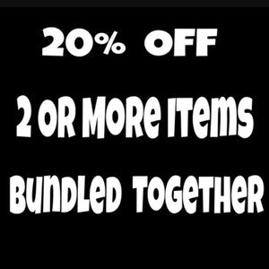 Other - 20% Bundles of 2+ items & FREE shipping on 5+